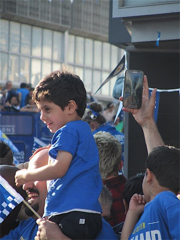 child at parade