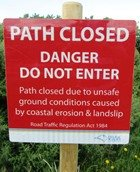 isle of wight closed path